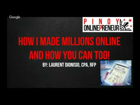 Free Webinar: How I Made Millions Online and How You Can Too!