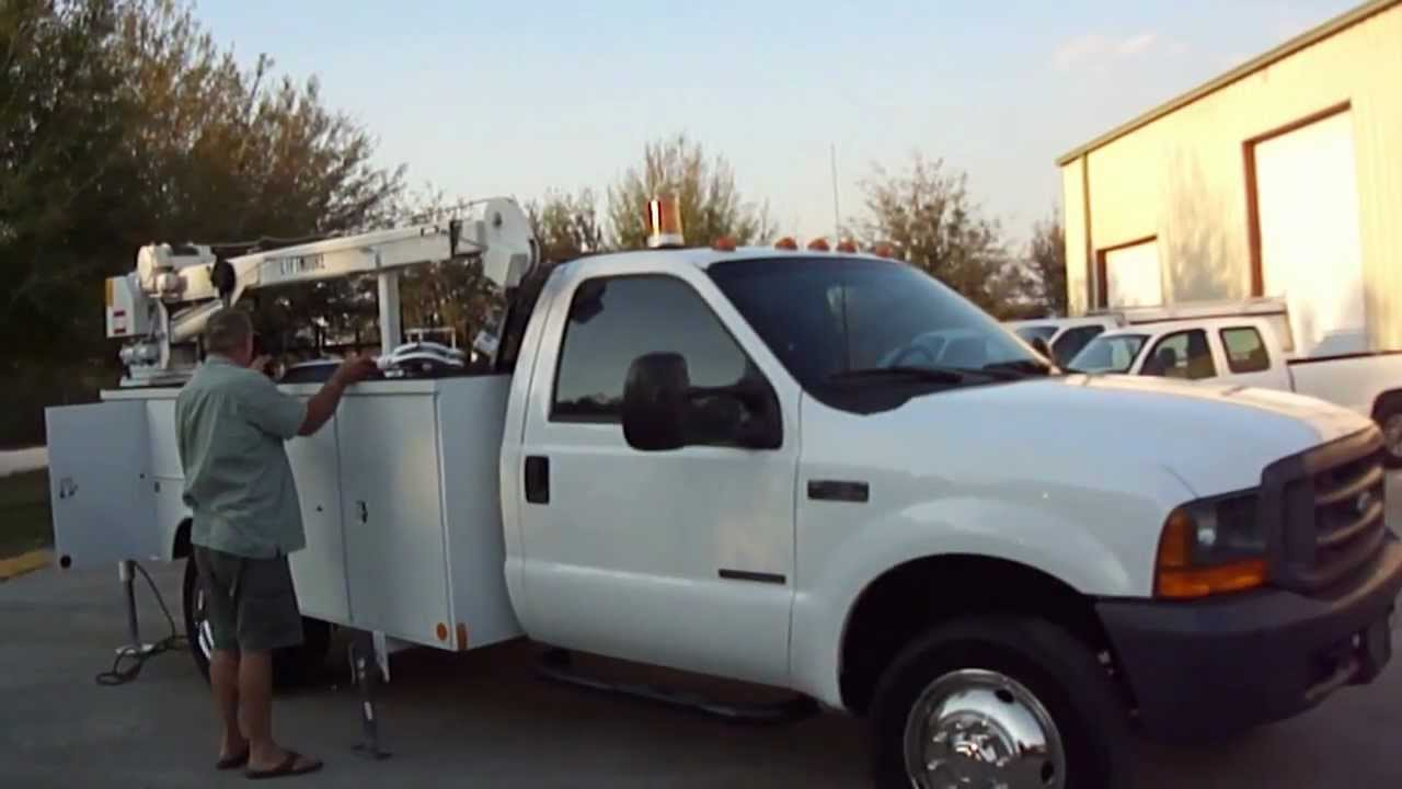 1999 ford f 450 super duty power stroke diesel utility with liftmoore crane 19k