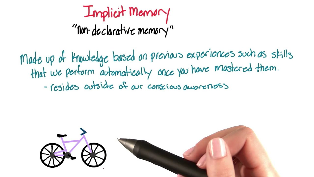 Implicit Non Declarative Memory Intro To Psychology Youtube
