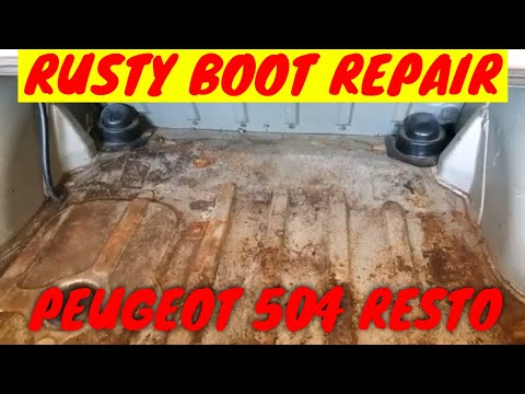 HOW TO FIX A RUSTY BOOT | Surface Rust Treatment | Peugeot 504 Restoration (Episode 3)