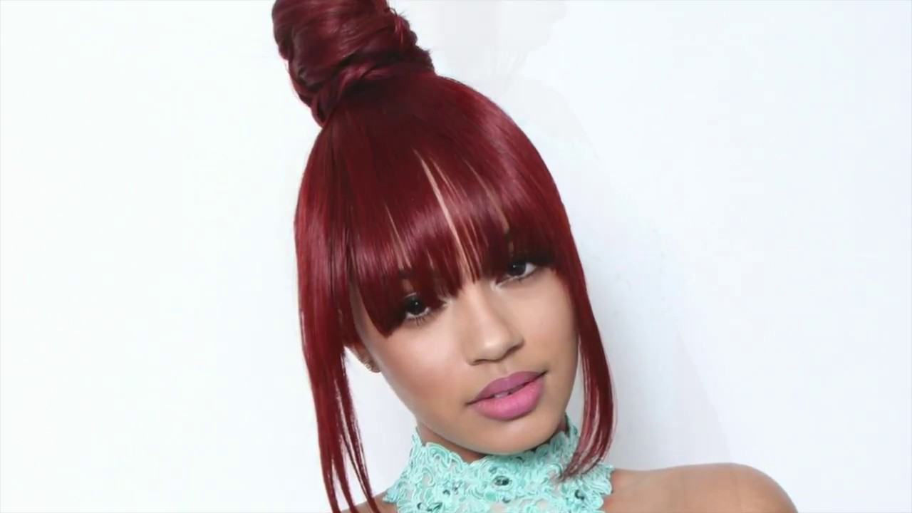 Beyonce Inspired Top Knot Bun With Bang Tutorial Formation Youtube