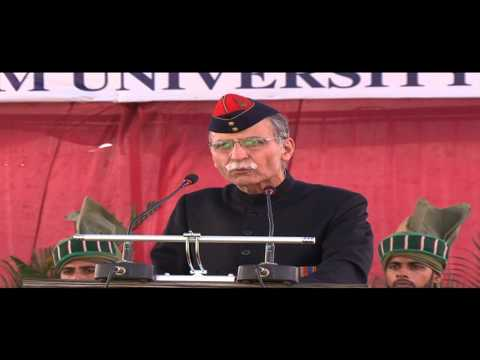 Lt Gen Zamiruddin Shah addressing the Aligarh Muslim University 2012