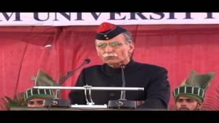 Lt Gen Zamiruddin Shah addressing the Aligarh Muslim University 2012