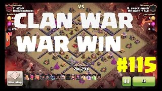 CLASH OF CLANS | CLAN WAR WIN #115