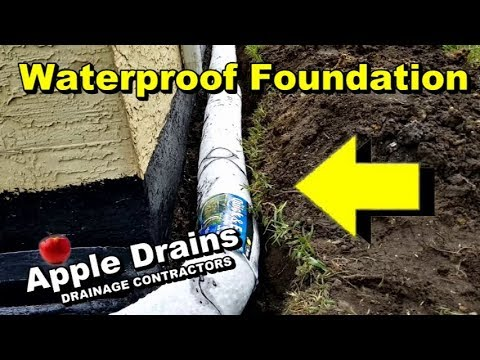 French Drain Waterproofing Exterior Footer Pipe Keep Your Foundation Dry