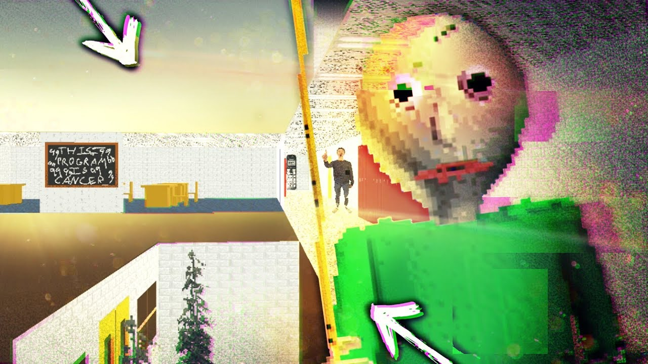 Baldi Wall: HACKING OUTSIDE THE MAP & TELEPORTING!!