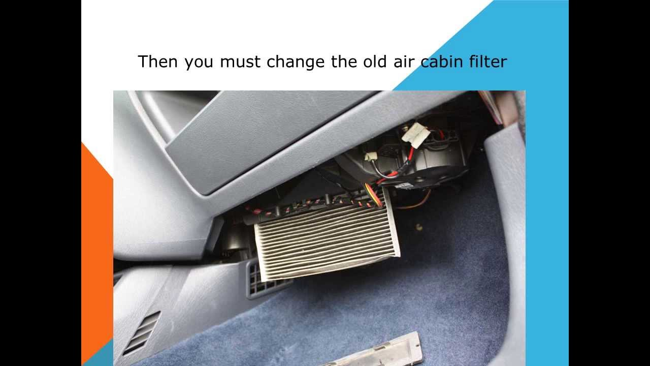 How to replace the air cabin filter dust pollen filter on for Interieur 306
