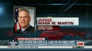 Free speech rights debated over Atheist vs. Muslim