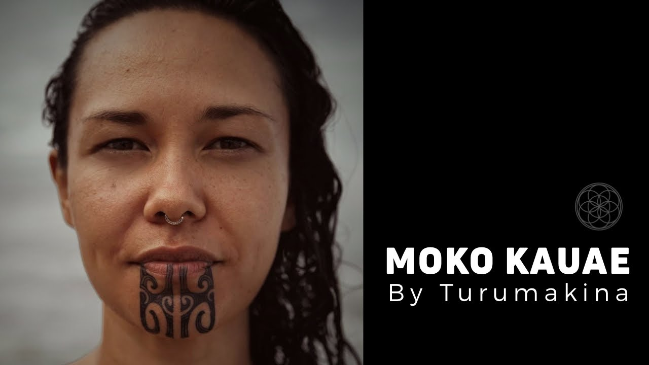 TA MOKO by Turumakina // Moko Kauae female Maori chin tattoo on Vanessa Voight