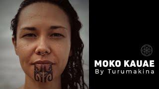 TA MOKO by Turumakina // Moko Kauae female Maori chin tattoo on Vanessa Voight