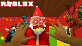 Roblox réaliste - ESCAPE SANTA CLAUS IN ROBLOX (ROBLOX CHRISTMAS ADVENTURE OBBY)