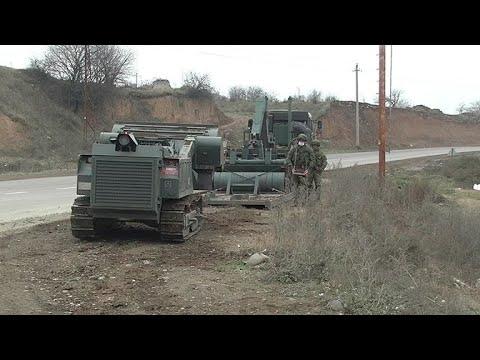Российские саперы в Карабахе впервые использовали «Уран-6»