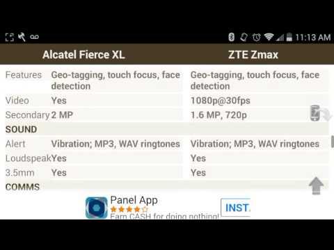 that alcatel fierce 4 vs zte zmax pro reading your