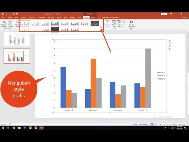 Tutorial Belajar Kursus Komputer Ms. Powerpoint Membuat Grafik Data Pada Slide Presentasi