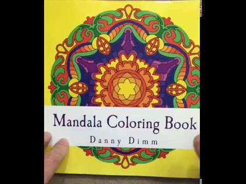 Mandala Coloring Book Stress Relieving Meditation Beautiful Relaxation Volume 3 Flip Through