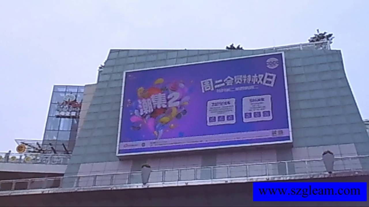 Indoor and outdoor led display led video wall led screen for Exterior led screen