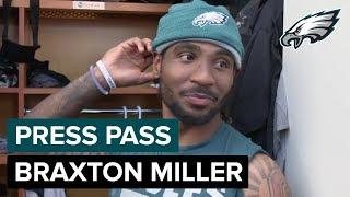 WR Braxton Miller Having Fun Playing Cam Newton In Practice | Eagles Press Pass