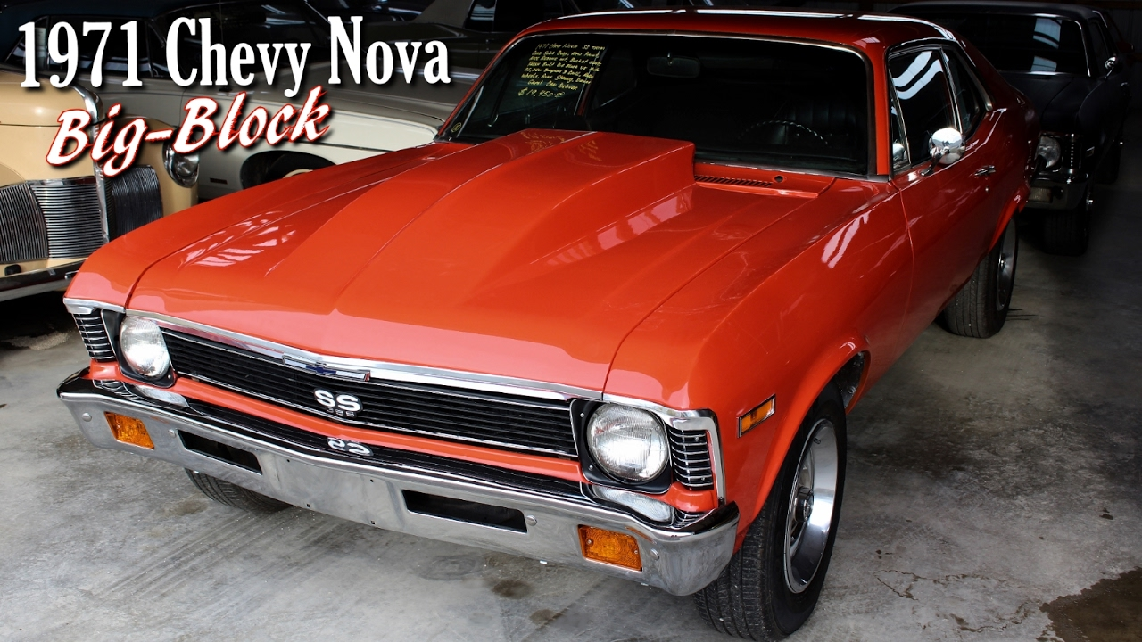 All Chevy 1971 chevrolet nova : 1971 Chevrolet Nova Built Big-Block V8 - Lopey Idle - YouTube