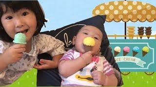 赤ちゃんもアイスが食べたい!?いっぱいのおもちゃで遊んであげよう!!アイス屋さんごっこ遊び おままごと Ice Cream Toys
