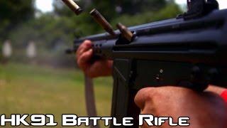 H&K 91 .308 Battle Rifle! (Semi-Auto H&K G3) | Super Slow-Mo 4K