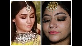 ALIA BHATT INSPIRED MAKEUP LOOK | #SONAM KAPOOR WEDDING RECEPTION |
