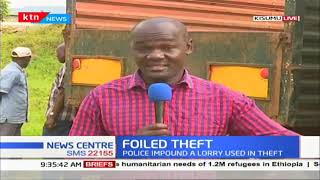 Robbery foiled in Kisumu as police impound lorry that was used in crime