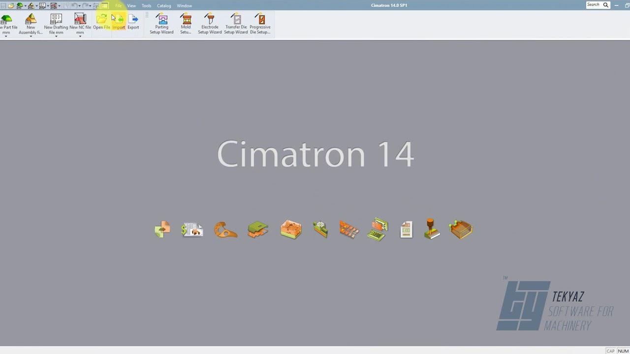 Cimatron 14 - Menü ve Komut İsimleri Aynı Olacak Şekilde Düzenlendi
