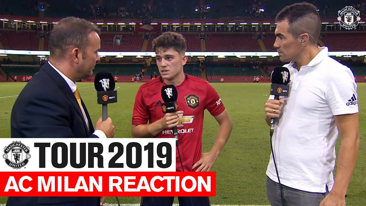 Daniel James Post Match Reaction Manchester United V AC Milan ICC