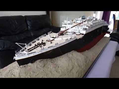 Titanic 1912 Wreck - 1:100 scale model by Jason King