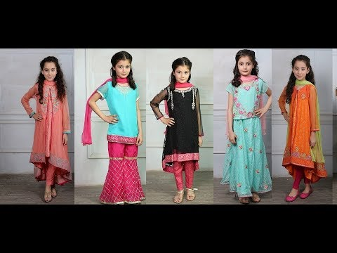 Download Latest Designer Eid Dresses Collection 2018 For Littel Girls