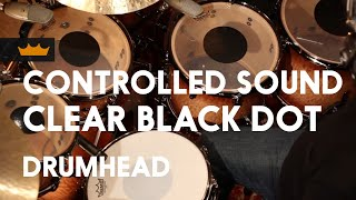 Remo: Controlled Sound® Clear Black Dot™ Drumhead