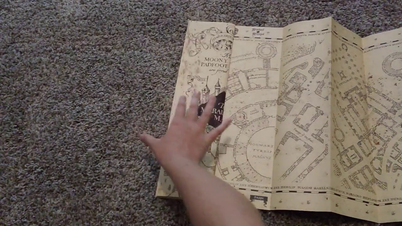wizarding world of harry potter working marauders map unboxing review