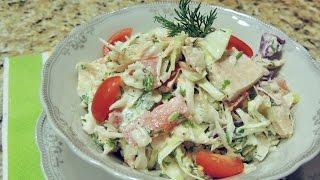 Салат рыбный  МОРСКОЙ за 10 мин. Вкусный ужин для неожиданных гостей.