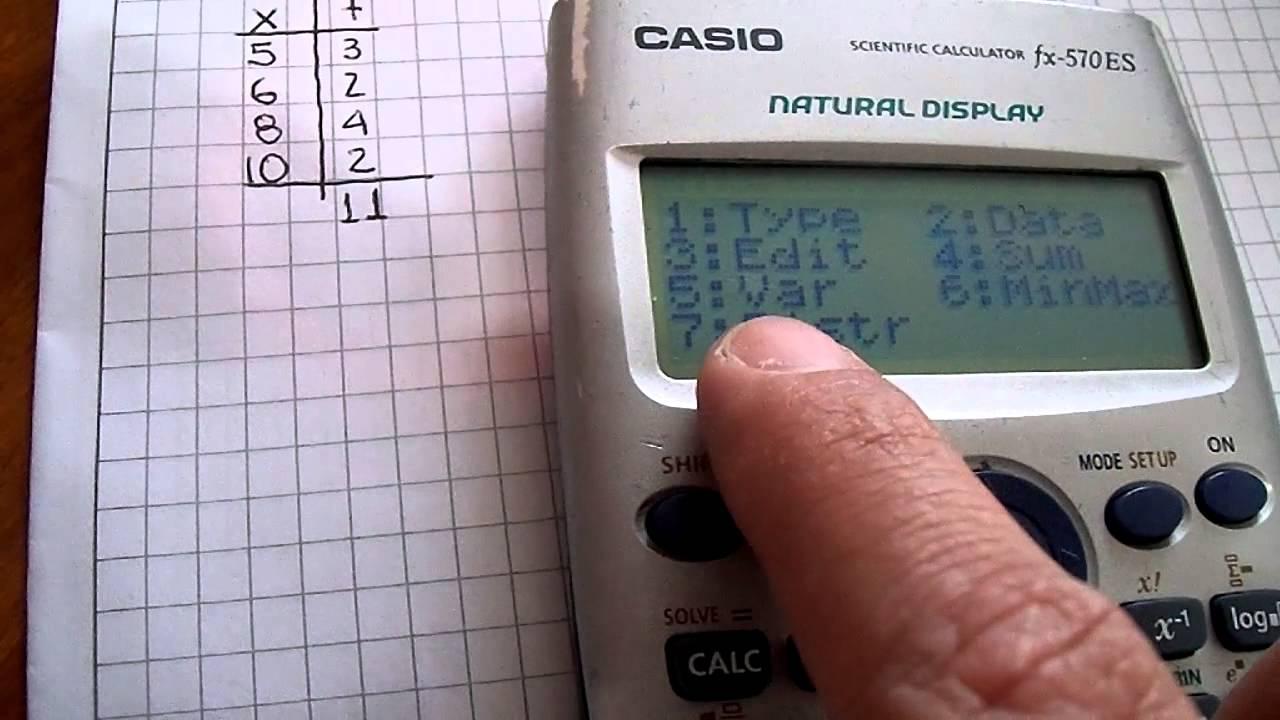Como sacar sigma en calculadora