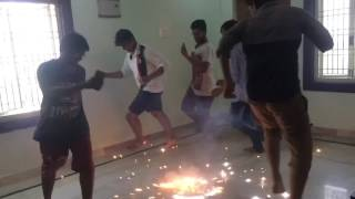 Dewali fun in india by raviteja, deva,eswar,srinu,vikas,jaykanth.