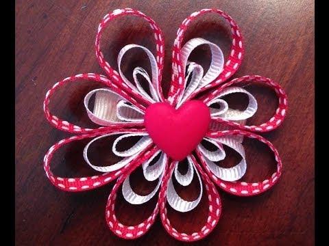 valentine's day hair bow tutorial