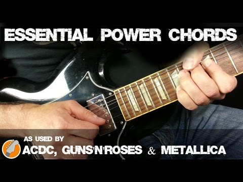 Power Chords for Electric Guitar - Essential Power Chord Shapes For Rock and Metal Guitar