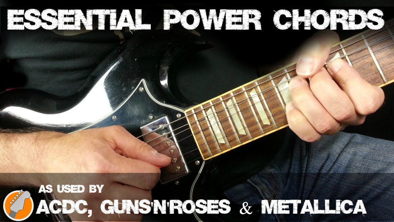 power chords for electric guitar essential power chord shapes for rock and metal guitar youtube. Black Bedroom Furniture Sets. Home Design Ideas