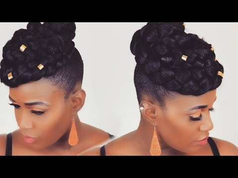 10-minute-faux-hawk-updo-on-short-natural-hair