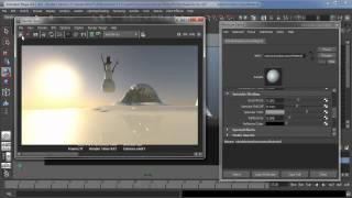Maya physical sun and sky render setup