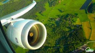 Norwegian 787-8 Intense Engine View Departure from Stockholm Arlanda!