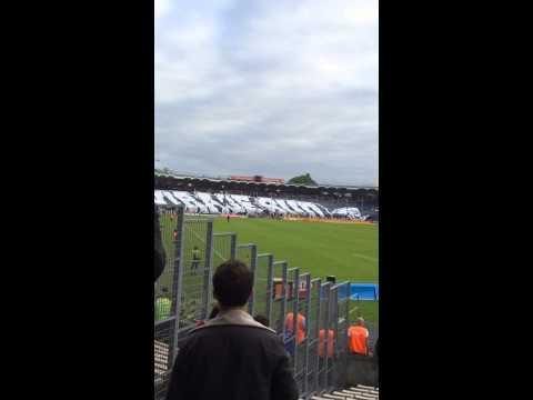 Derniers TIFO stade lescure( chaban Delmas) Bordeaux Nantes