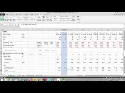 Project Finance Working Analysis