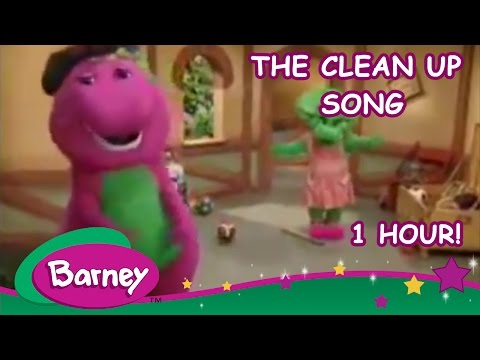 Barney  - The Clean Up Song (1 hour)