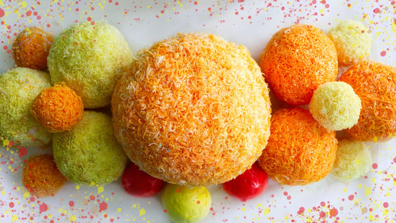 A huge multi-layered soap ball🤩. A bright sunny set of crispy balls☀. Clay cracking.🎧