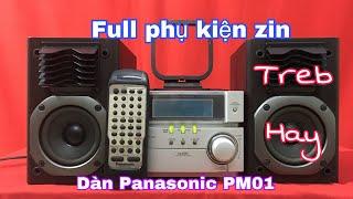 Dàn mini Panasonic PM01 - Dàn loa độc đáo - Treb hay - Full phụ kiện - Giá 2Tr7 - Lh 01666.543.886