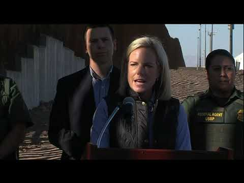 Nielsen tours border wall, urges Congress to act