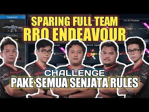 SPARING FULL TEAM RRQ ENDEAVOUR ?! NYOBAIN SEMUA SENJATA RULES #1 - POINT BLANK INDONESIA