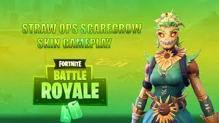 NEW Scarecrow Skin! Straw Ops - Fortnite Battle Royale Gameplay