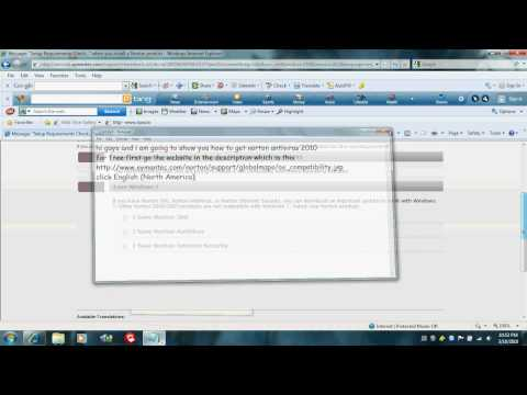 How to get Norton Antivirus 2010 for free